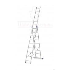 Лестница алюминиевая трёхсекционная  Алюмет в наличии в Ижевске от компании Строительное оборудование Ижевск.
