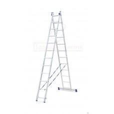 Лестница алюминиевая двухсекционная универсальная 2х12 в наличии в Ижевске от компании Строительное оборудование Ижевск.