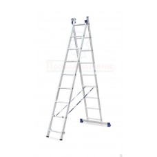 Лестница  алюминиевая двухсекционная универсальная 2х9 в наличии в Ижевске от компании Строительное оборудование Ижевск.