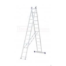 Лестница  алюминиевая двухсекционная универсальная 2х13 в наличии в Ижевске от компании Строительное оборудование Ижевск.