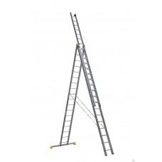 Лестница алюминиевая 3-х секционная универсальная профессиональная в наличии в Ижевске от компании Строительное оборудование Ижевск.