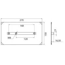 Комплект лопастей для двухроторной затирочн. маш.GROST – 150x270 мм (4шт) в наличии в Ижевске от компании Строительное оборудование Ижевск.