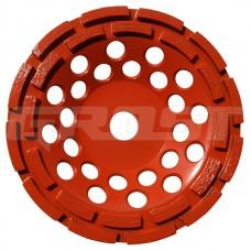 Чашка двурядная D180/22,23/24 (25x6,5x6) GrOST для мозаично-шлифовальной машины в наличии в Ижевске от компании Строительное оборудование Ижевск.