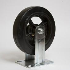 Колесо большегрузное резина черная неповоротное FCD 200 в наличии в Ижевске от компании Строительное оборудование Ижевск.