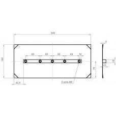 Комплект лопастей для затирочн. маш. GROST - 150х350 мм (4шт.) в наличии в Ижевске от компании Строительное оборудование Ижевск.