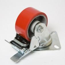 Колесо большегрузное полиуретановое с тормозом SCPB 200 в наличии в Ижевске от компании Строительное оборудование Ижевск.