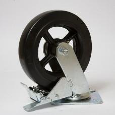 Колесо большегрузное резина черная поворотное SCDB 125 в наличии в Ижевске от компании Строительное оборудование Ижевск.