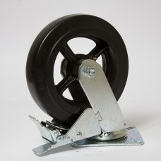 Колесо большегрузное резина черная поворотное SCDB 160 в наличии в Ижевске от компании Строительное оборудование Ижевск.