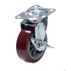 Колесо мебельное поворотное с тормозом 50мм (8002050)
