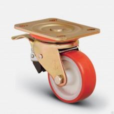 Колесо большегрузное полиуретановое поворотное с тормозом (ED01 ZBP F)