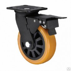 Колесо большегрузное поворотная с тормозом 80мм (ED01 VBР F)