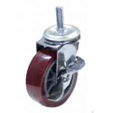 Колесо мебельное поворотное с тормозом 50мм (8005050)